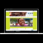 Zukunft durch Bildung Webseite auf einem Notebook